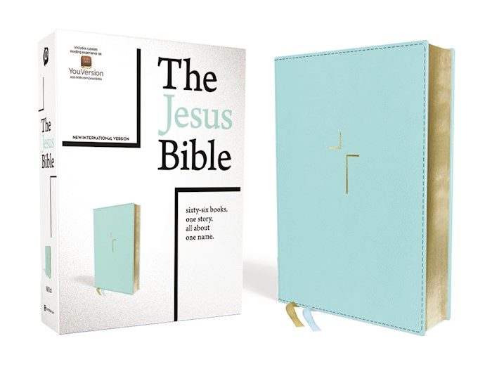 NIV The Jesus Bible (Comfort Print)-Blue Leathersoft Indexed | SHOPtheWORD