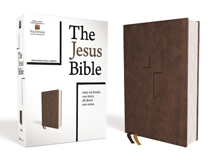 NIV The Jesus Bible (Comfort Print)-Brown Leathersoft | SHOPtheWORD