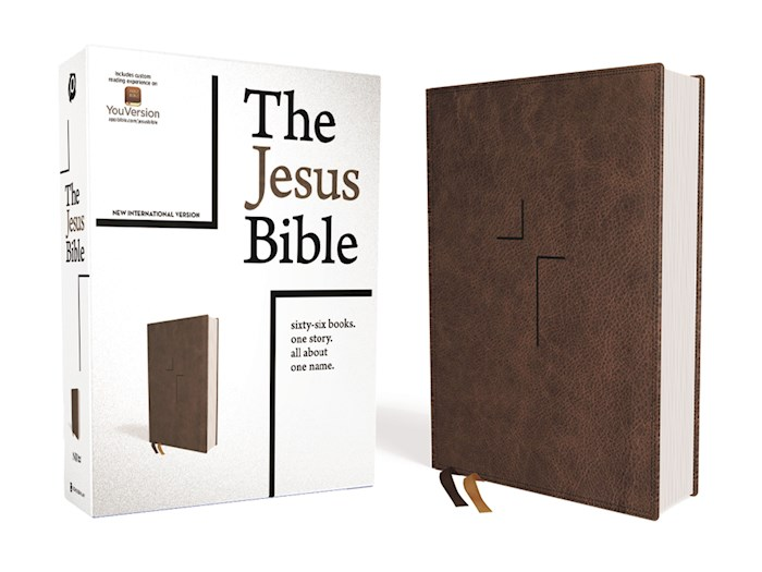 NIV The Jesus Bible (Comfort Print)-Brown Leathersoft Indexed | SHOPtheWORD
