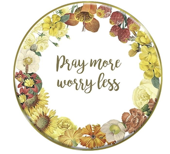 """Plate-Tabletop-Pray More-Mini w/Stand (4"""") 