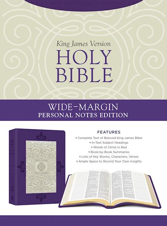 KJV Wide-Margin Personal Notes Bible-Lavender Plume DiCarta | SHOPtheWORD