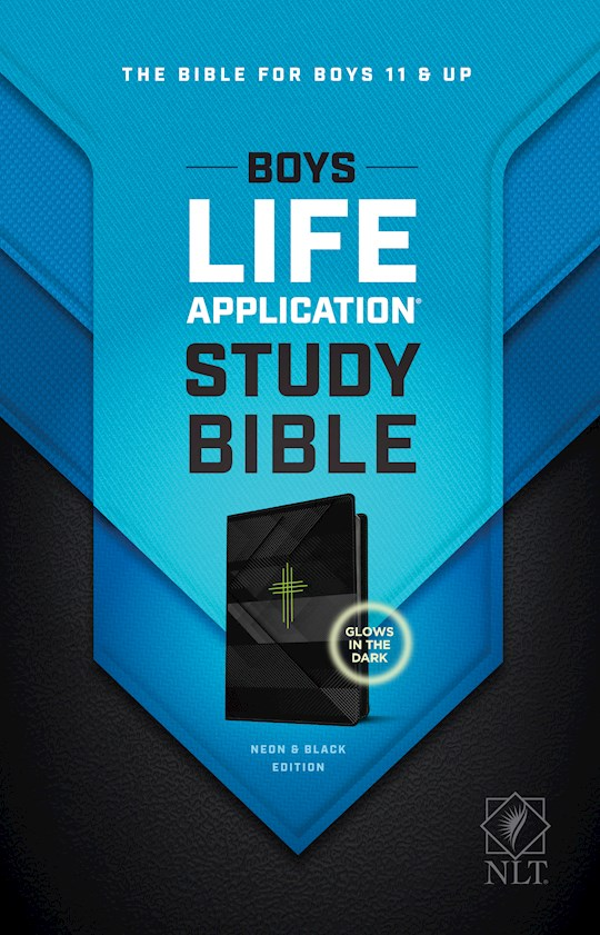 NLT Boys Life Application Study Bible-Neon/Black TuTone | SHOPtheWORD