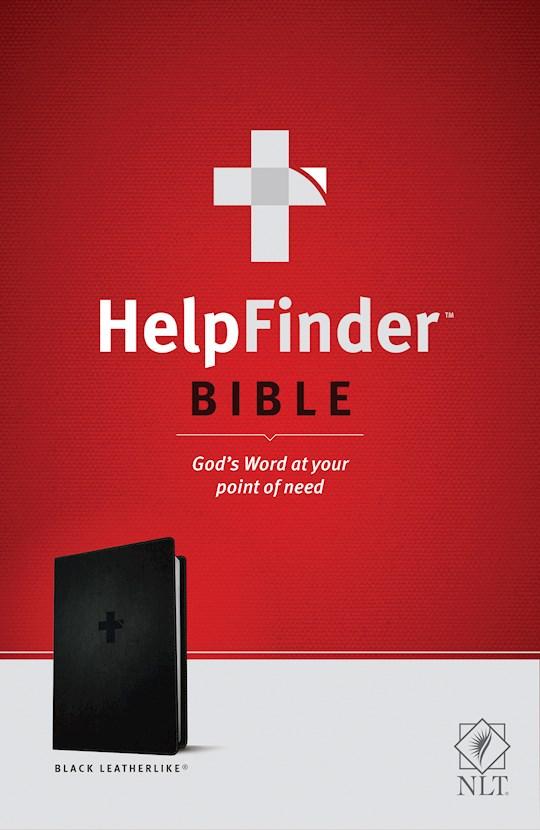NLT Helpfinder Bible-Black LeatherLike | SHOPtheWORD