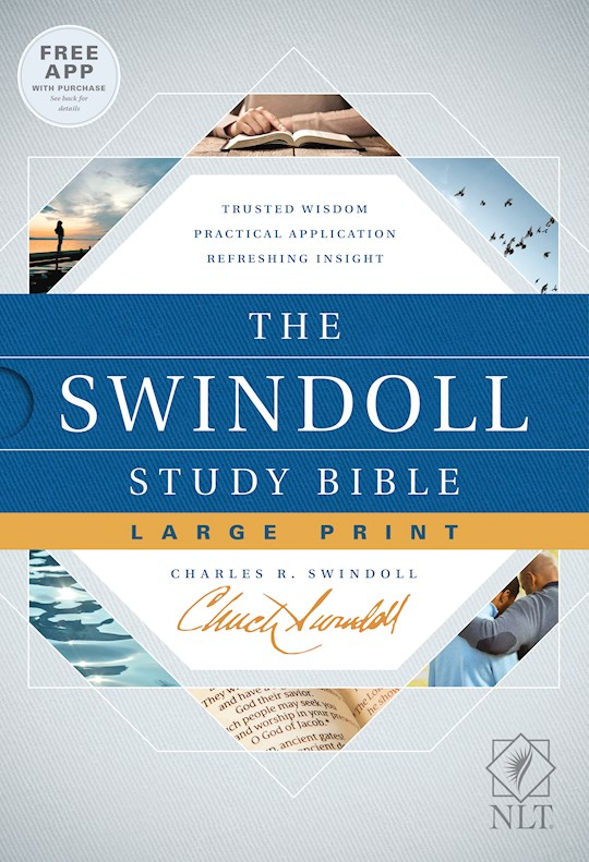 NLT Swindoll Study Bible/Large Print-Hardcover | SHOPtheWORD