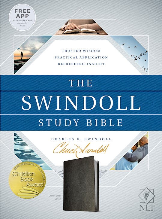 NLT Swindoll Study Bible-Classic Black LeatherLike | SHOPtheWORD