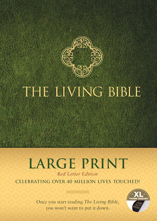 TLB The Living Bible/Large Print (RL)-Hardcover Indexed | SHOPtheWORD