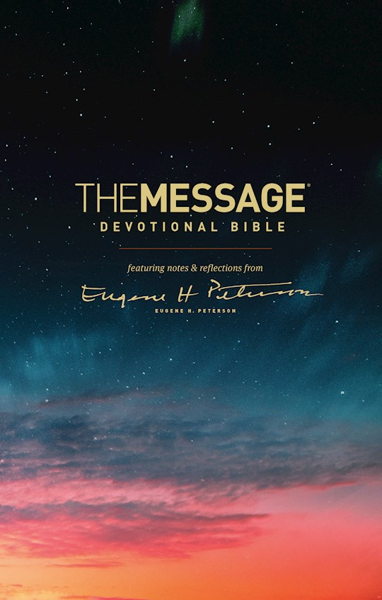 Message Devotional Bible-Hardcover | SHOPtheWORD