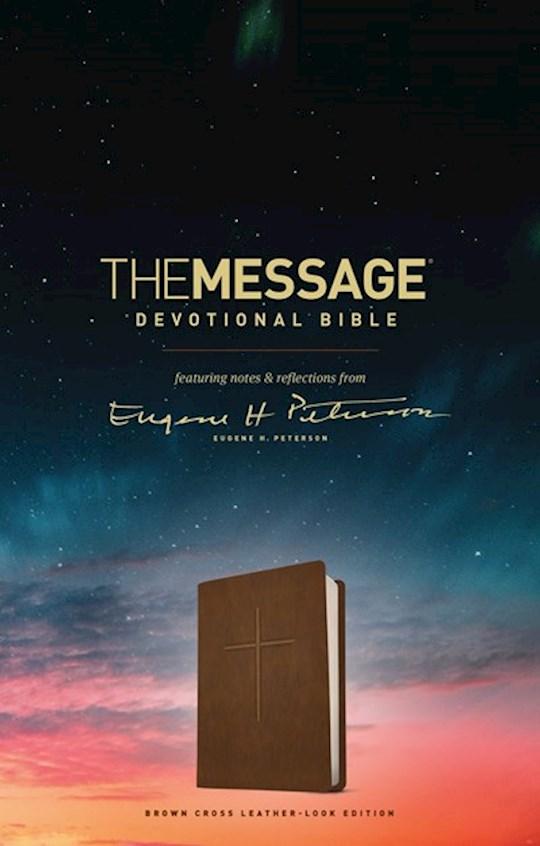 The Message Devotional Bible-Brown Cross LeatherLook | SHOPtheWORD