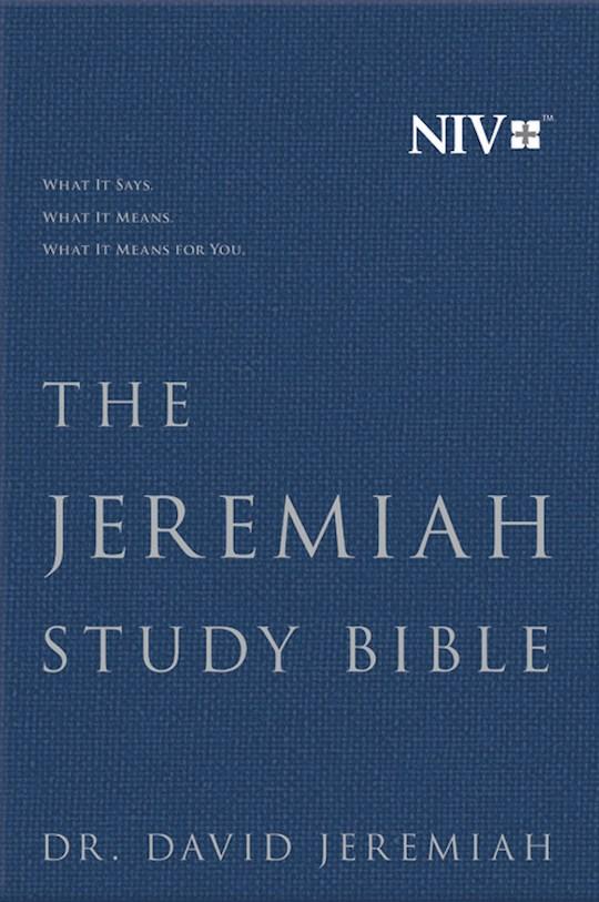NIV Jeremiah Study Bible-Navy Cloth Over Board    SHOPtheWORD