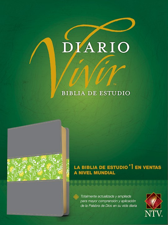 Span-NTV Life Application Study Bible (Biblia De Estudio Del Diario Vivir)-Gray/Green LeatherLike | SHOPtheWORD
