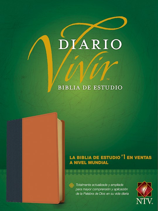 Span-NTV Life Application Study Bible (Biblia De Estudio Del Diario Vivir)-Blue/Tan LeatherLike Indexed | SHOPtheWORD