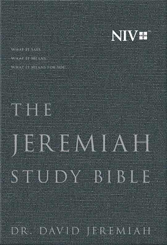 NIV Jeremiah Study Bible-Charcoal Gray Cloth Over Board  | SHOPtheWORD