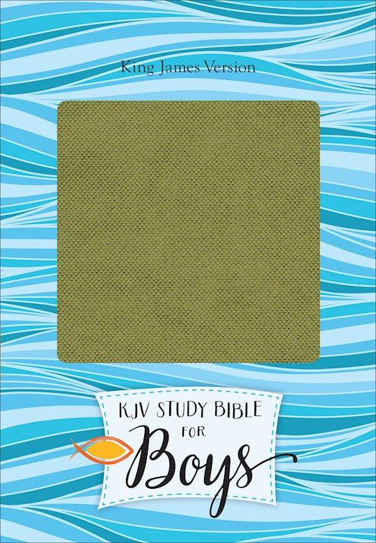 KJV Study Bible For Boys-Olive/Brown LeatherTouch | SHOPtheWORD