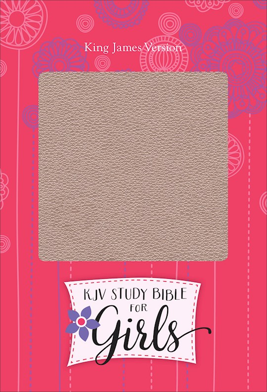 KJV Study Bible For Girls-Pink Pearl/Gray-Vine Design LeatherTouch | SHOPtheWORD
