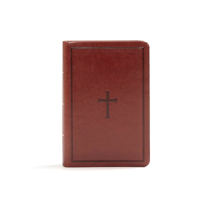 KJV Large Print Compact Reference Bible-Brown LeatherTouch | SHOPtheWORD