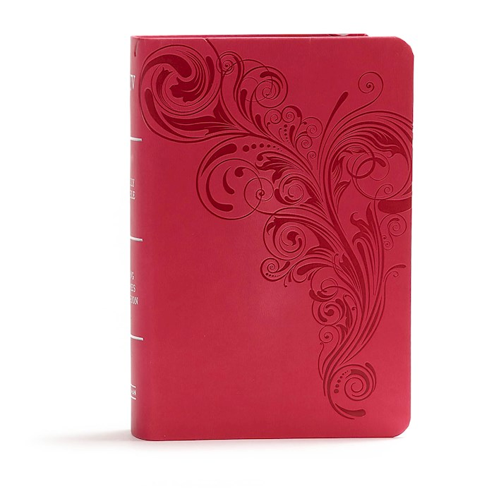 KJV Large Print Compact Reference Bible-Pink LeatherTouch | SHOPtheWORD