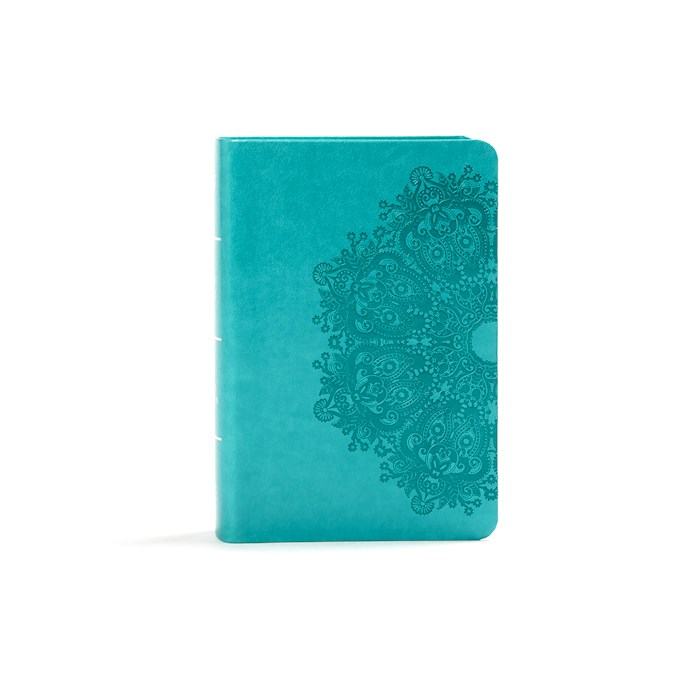 KJV Large Print Compact Reference Bible-Teal LeatherTouch | SHOPtheWORD