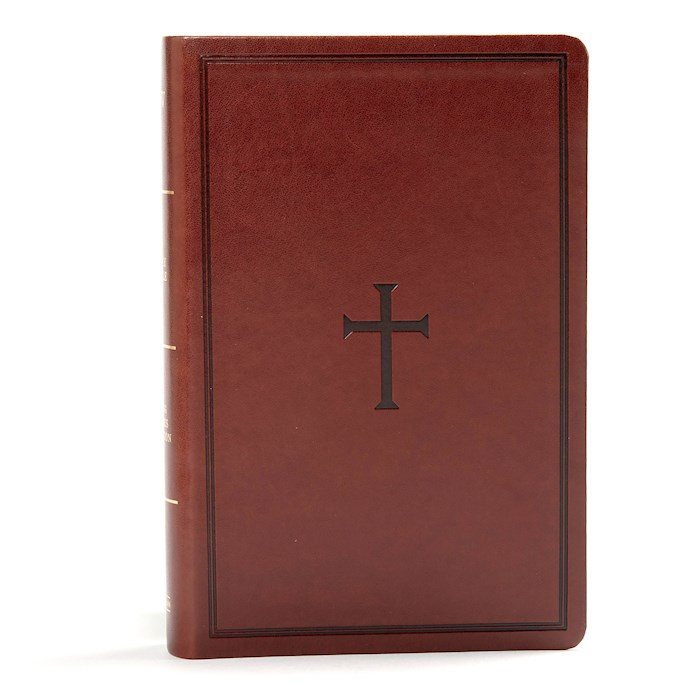 KJV Large Print Personal Size Reference Bible-Brown LeatherTouch Indexed | SHOPtheWORD