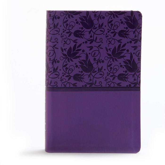 KJV Large Print Personal Size Reference Bible-Purple LeatherTouch | SHOPtheWORD