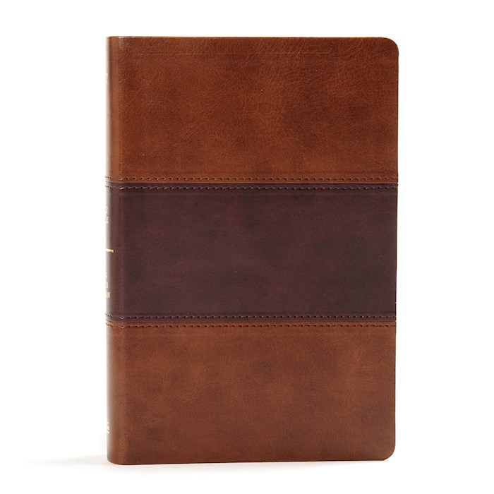 KJV Large Print Personal Size Reference Bible-Saddle Brown LeatherTouch Indexed | SHOPtheWORD