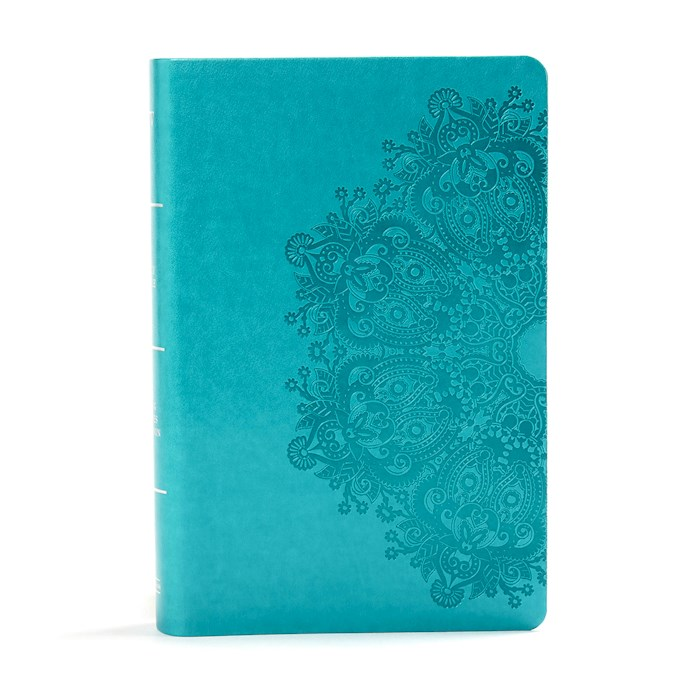 KJV Large Print Personal Size Reference Bible-Teal LeatherTouch | SHOPtheWORD