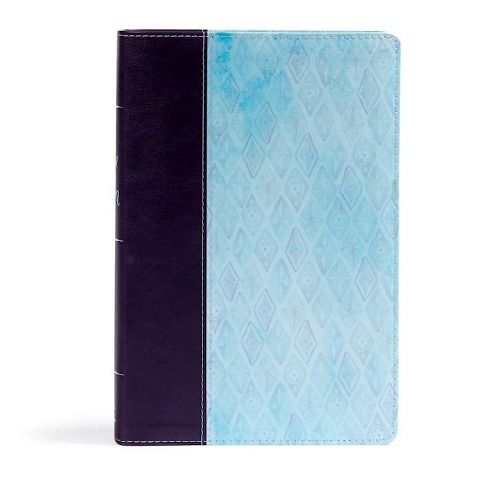 NKJV Daily Devotional Bible For Women-Purple/Blue LeatherTouch | SHOPtheWORD