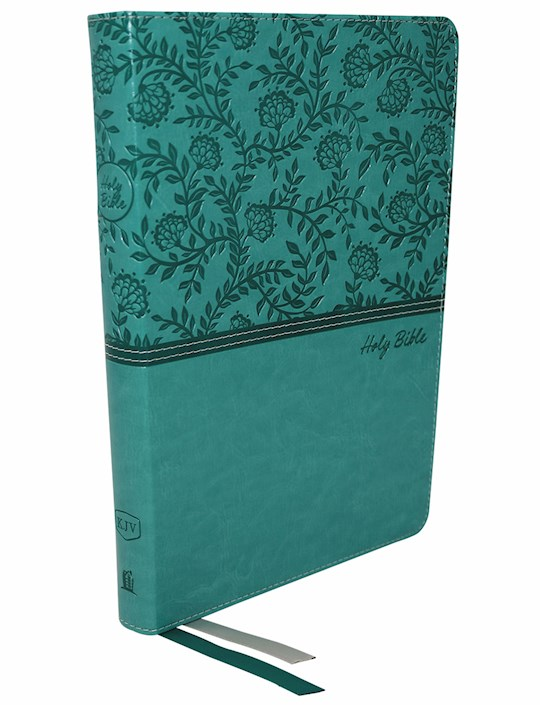 KJV Thinline Bible/Large Print (Comfort Print)-Turquoise Leathersoft | SHOPtheWORD