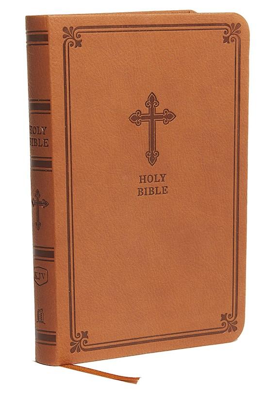 KJV Value Thinline Bible/Compact (Comfort Print)-Chestnut Leathersoft | SHOPtheWORD