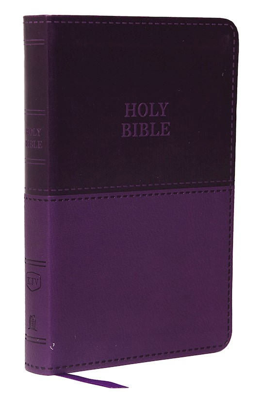 KJV Value Thinline Bible/Compact (Comfort Print)-Purple Leathersoft | SHOPtheWORD