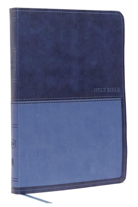 KJV Value Thinline Bible/Large Print (Comfort Print)-Blue Leathersoft  | SHOPtheWORD