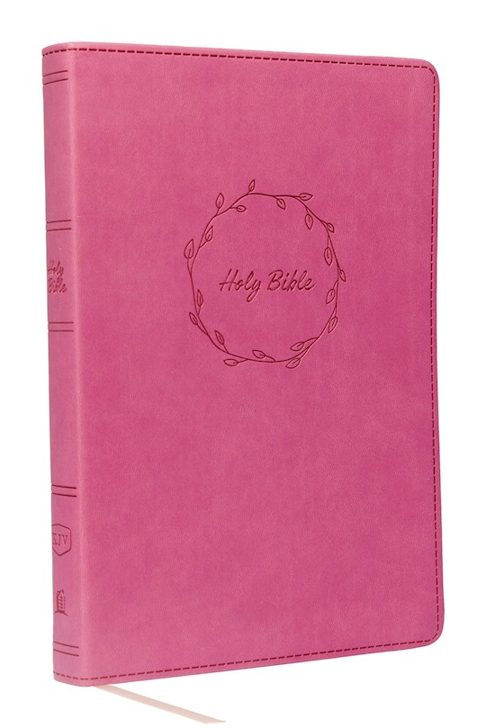 KJV Value Thinline Bible/Large Print (Comfort Print)-Pink Leathersoft | SHOPtheWORD