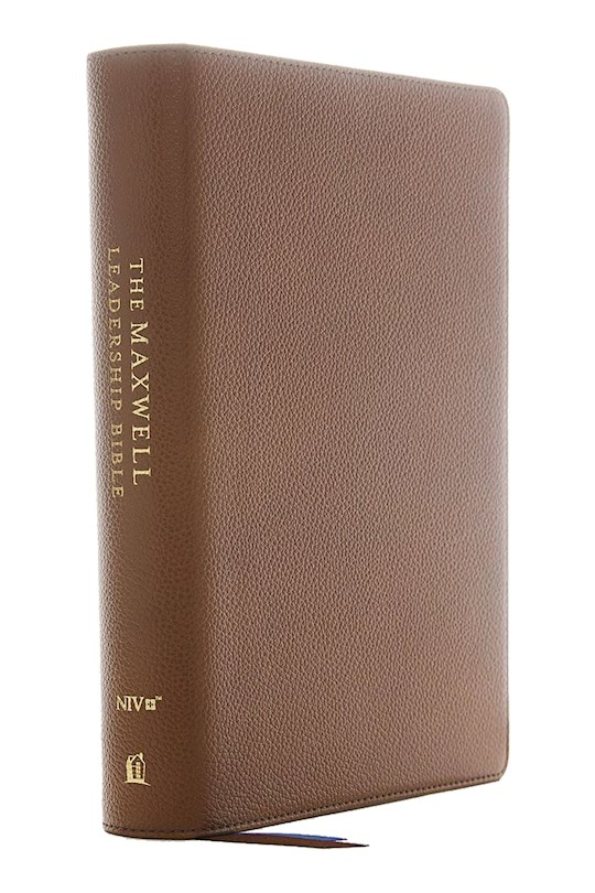 NIV Maxwell Leadership Bible (Third Edition) (Comfort Print)-Brown Genuine Leather | SHOPtheWORD