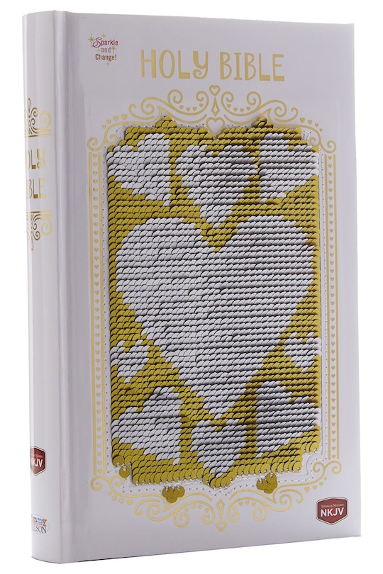 NKJV Sequin Sparkle And Change Bible-Hardcover | SHOPtheWORD