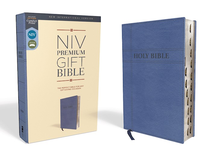 NIV Premium Gift Bible (Comfort Print)-Navy Leathersoft Indexed | SHOPtheWORD