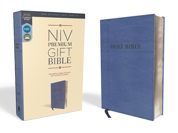 NIV Premium Gift Bible (Comfort Print)-Navy Leathersoft | SHOPtheWORD