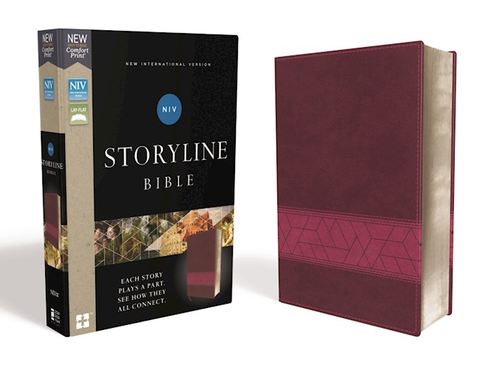 NIV Storyline Bible (Comfort Print)-Pink Leathersoft | SHOPtheWORD