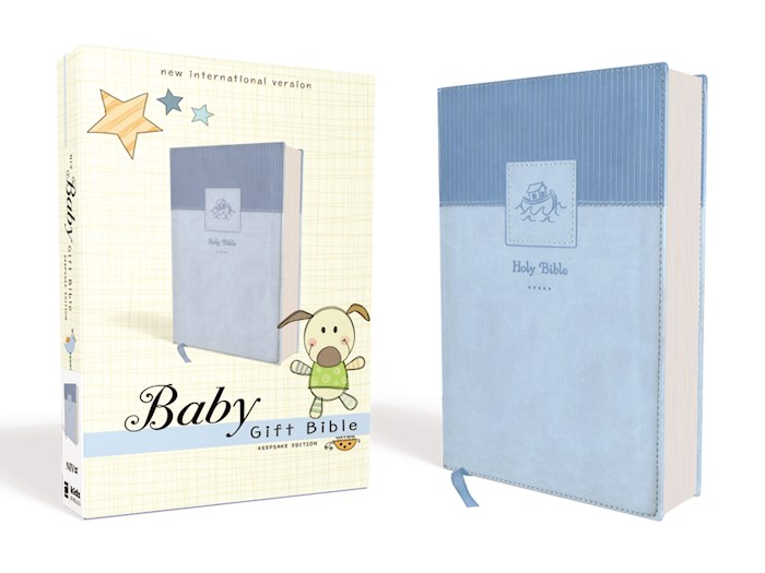 NIV Baby Gift Bible (Comfort Print)-Blue Leathersoft   SHOPtheWORD