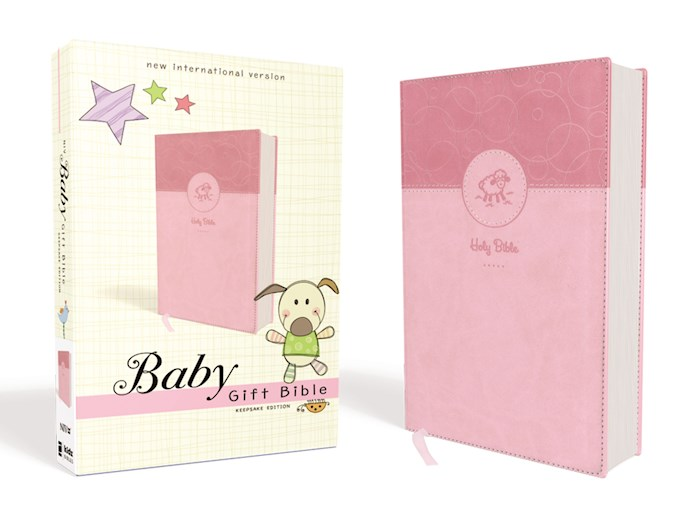 NIV Baby Gift Bible (Comfort Print)-Pink Leathersoft | SHOPtheWORD