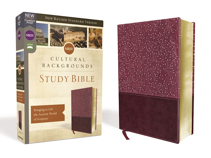 NRSV Cultural Backgrounds Study Bible (Comfort Print)-Burgundy Leathersoft | SHOPtheWORD
