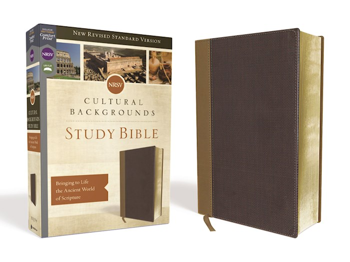 NRSV Cultural Backgrounds Study Bible (Comfort Print)-Tan/Brown Leathersoft | SHOPtheWORD