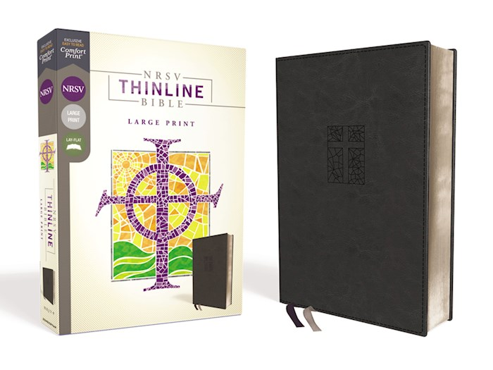 NRSV Thinline Bible/Large Print (Comfort Print)-Black Leathersoft | SHOPtheWORD