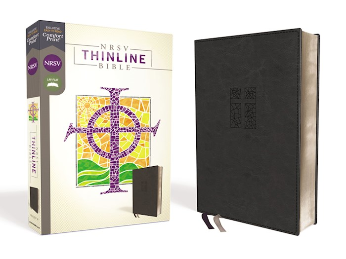 NRSV Thinline Bible (Comfort Print)-Black Leathersoft | SHOPtheWORD