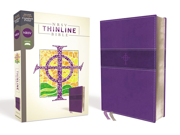 NRSV Thinline Bible (Comfort Print)-Purple Leathersoft | SHOPtheWORD