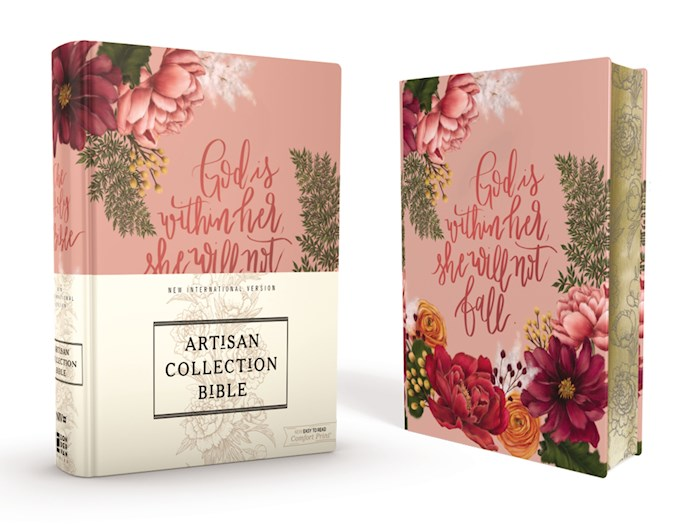 NIV Artisan Collection Bible (Comfort Print)-Pink Floral Cloth Over Board | SHOPtheWORD