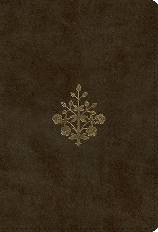ESV Large Print Compact Bible-Olive Branch Design TruTone | SHOPtheWORD