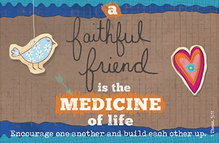 "Cards-Pass It On-A Faithful Friend (3"" x 2"") (Pack Of 25) 