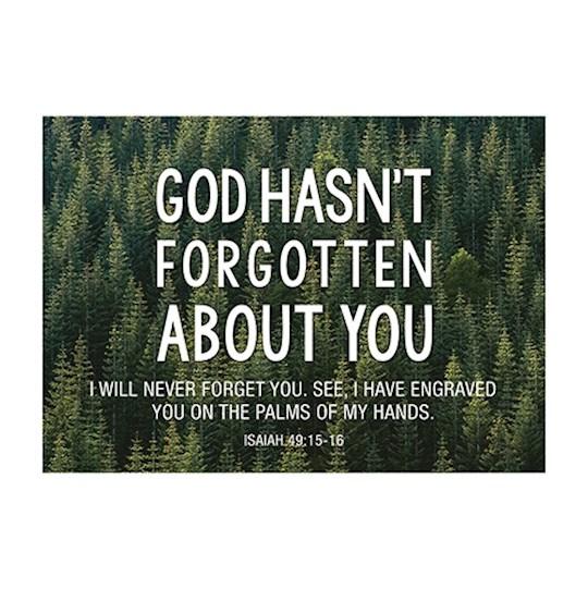 Postcard-God Hasn't Forgotten You (6 x 4.25) (Pack Of 6)   SHOPtheWORD