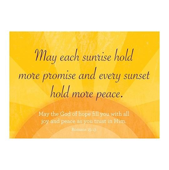 Postcard-Sunrise, Sunset (6 x 4.25) (Pack Of 6)   SHOPtheWORD