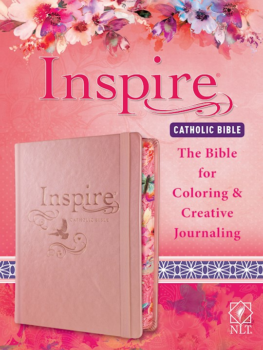NLT Inspire Catholic Bible-Pink Hardcover | SHOPtheWORD