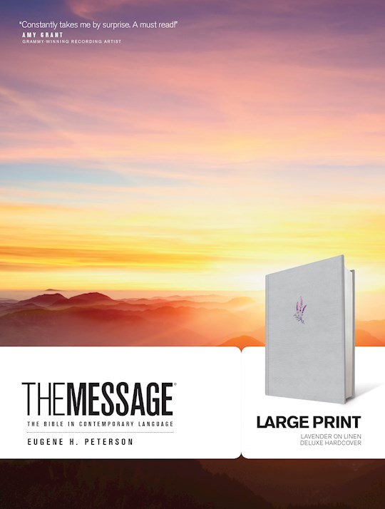 The Message/Large Print Bible-Lavender Hardcover | SHOPtheWORD